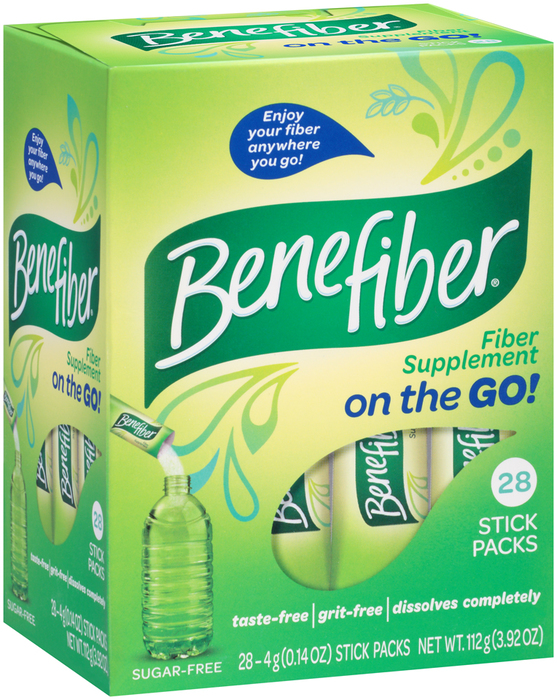 Benefiber Fiber Supplement On the Go! Stick Packs - 28 EACH