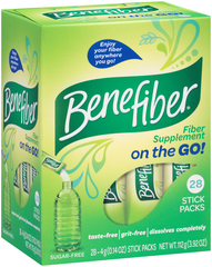 Benefiber Fiber Supplement On the Go! Stick Packs - 28 EACH