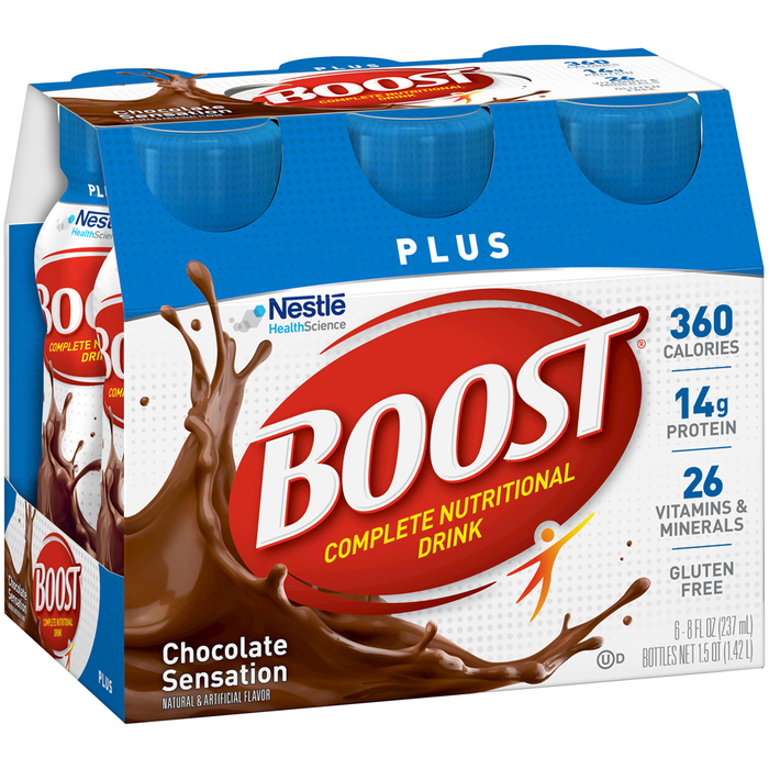 BOOST PLUS Complete Nutritional Drinks Rich Chocolate - 48 OUNCE