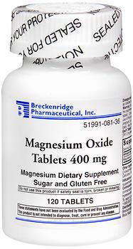 Breckenridge Magnesium Oxide 400 mg Tablets - 120 TAB
