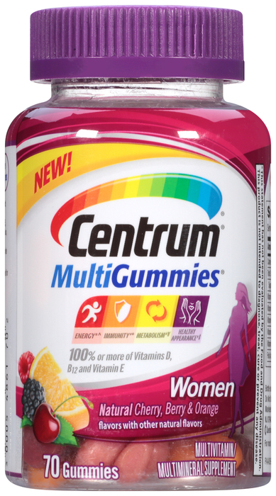 Centrum MultiGummies Women Natural Cherry, Berry & Apple - 70 UNIT