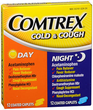Comtrex Cold & Cough Coated Caplets Day/Night - 24 EACH