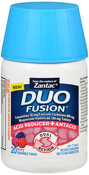 Duo Fusion Acid Reducer + Antacid Chewable Tablets Berry - 20 TAB