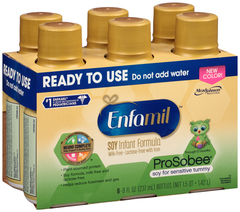 Enfamil Prosobee Soy Infant Formula with Iron Ready to Use 6 Pack 8 oz Bottles - 4 EACH