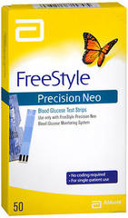 FreeStyle Precision Neo Blood Glucose Test Strips - 50 EACH