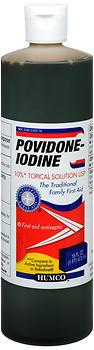 Humco Povidone-Iodine 10% Topical Solution USP - 16 OUNCE