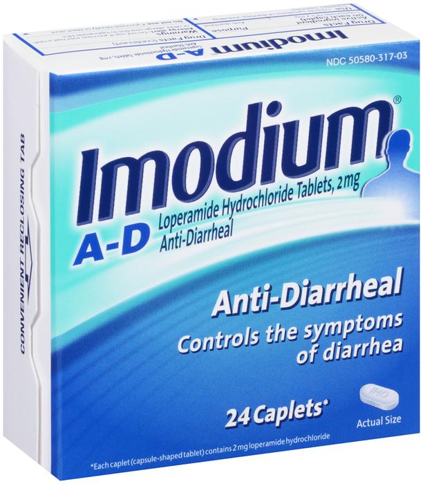 Imodium A-D Anti-Diarrheal Caplets - 24 TAB
