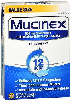 Mucinex Expectorant Tablets - 68 TAB