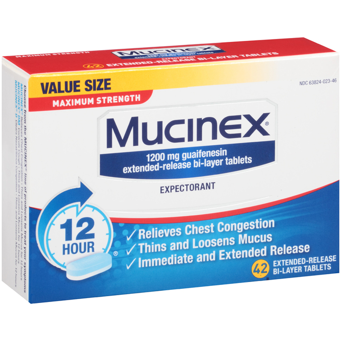 Mucinex Expectorant Tablets Maximum Strength - 42 TAB