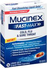 Mucinex Fast-Max Cold, Flu & Sore Throat Liquid Gels - 24 CAP