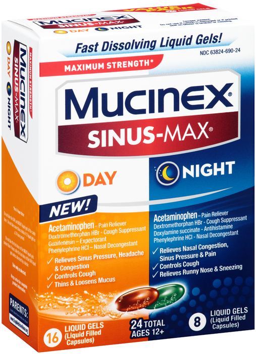 Mucinex Sinus-Max Day and Night Liquid Gels - 24 CAP