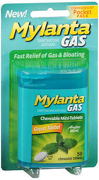 MYLANTA Gas Chewable Mini-Tablets Arctic Mint - 50 EACH