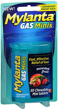 Mylanta Gas Minis Chewable Tablets Assorted Fruit - 50 EACH