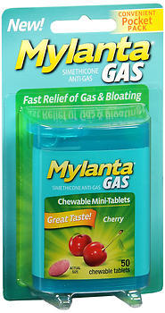 Mylanta Gas Minis Chewable Tablets Cherry - 50 EACH