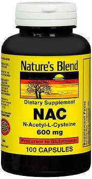 Nature's Blend NAC 600 mg Capsules - 100 TAB