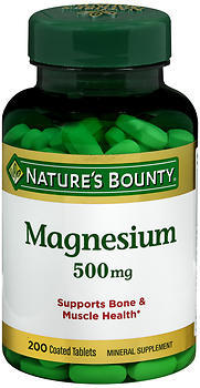 Nature's Bounty Magnesium 500 mg Tablets - 200 TAB