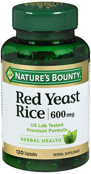Nature's Bounty Red Yeast Rice 600 mg Herbal Supplement Capsules - 120 CAP