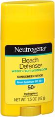 Neutrogena Beach Defense Water + Sun Protection Sunscreen Stick SPF 50+ - 1.5 OUNCE
