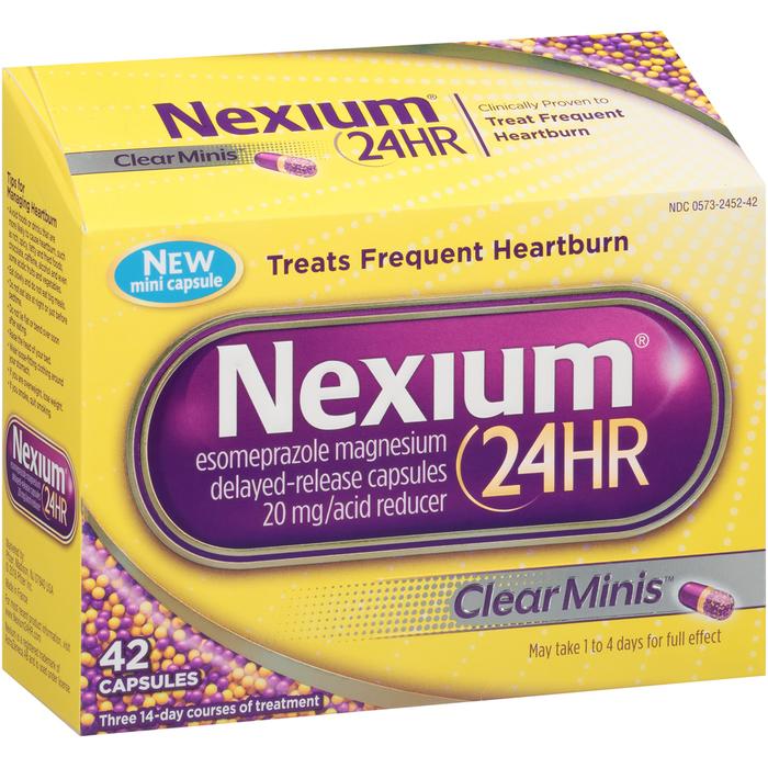 Nexium 24HR Capsules Clear Minis - 42 CAP