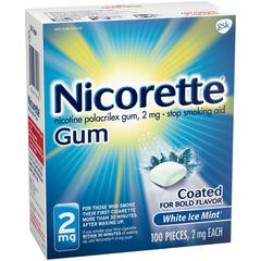 Nicorette 2 mg Gum White Ice Mint - 100 EACH