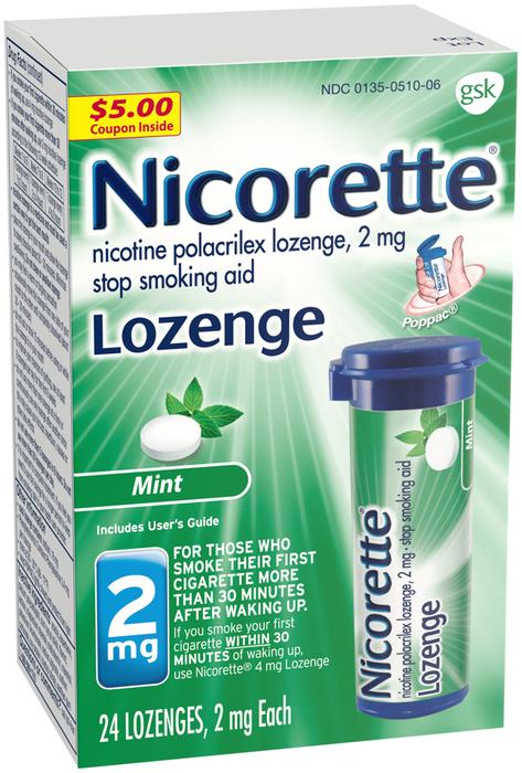 Nicorette 2 mg Lozenges Mint - 24 EACH