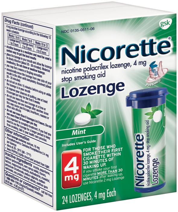 Nicorette 4 mg Lozenges Mint - 24 EACH