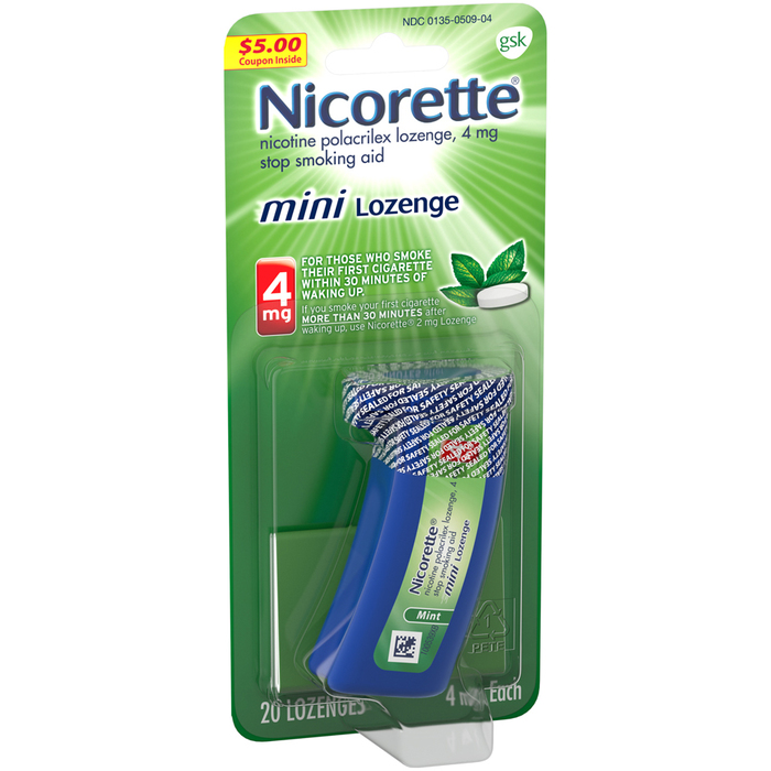 Nicorette Stop Smoking Aid Mini Lozenges 4 mg Mint - 20 EACH