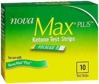 Nova Max Plus Ketone Test Strips - 10 EACH