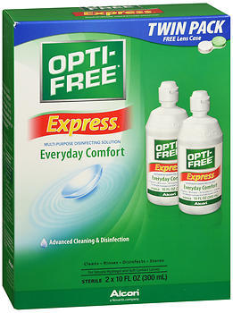 Opti-Free Express Multi-Purpose Contact Lens Disinfecting Solution - 20 OUNCE