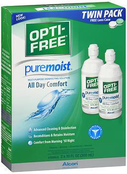OPTI-FREE Puremoist Multi-Purpose Disinfecting Solution - 20 OUNCE