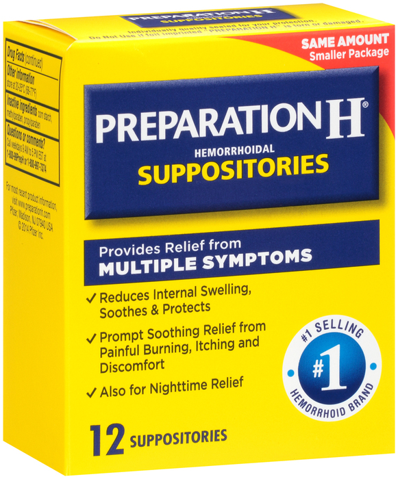 Preparation H Hemorrhoidal Suppositories - 12 EACH