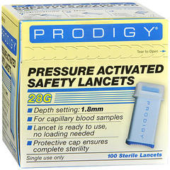 Prodigy Pressure Activated Safety Lancets - 100 EACH