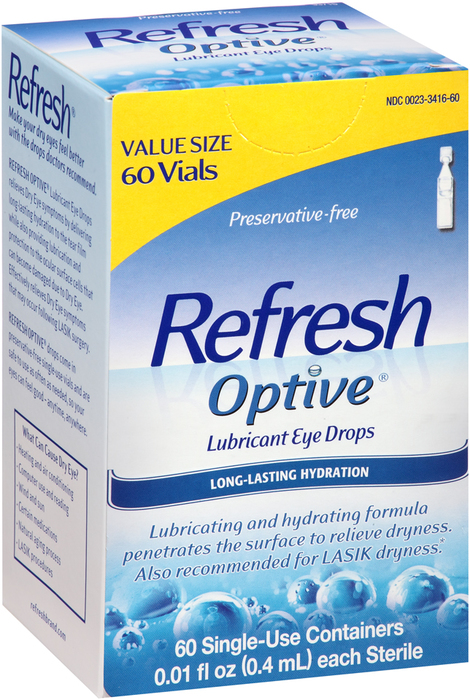 REFRESH Optive Lubricant Eye Drops Single-Use Containers - 1 EACH