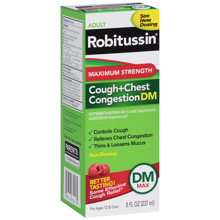 Robitussin Adult Cough+Chest Congestion DM Liquid Maximum Strength - 8 OUNCE