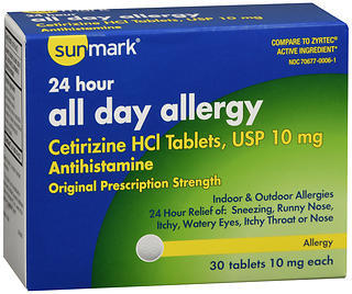 Sunmark 24 Hour All Day Allergy Tablets - 30 TAB