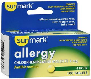 Sunmark 4 Hour Allergy Tablets - 100 TAB