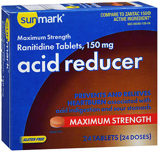 Sunmark Acid Reducer 150 mg Tablets - 24 TAB