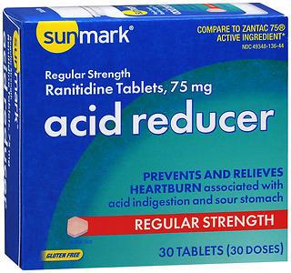 Sunmark Acid Reducer 75 mg Tablets Regular Strength - 30 TAB