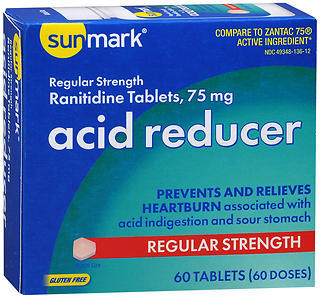 Sunmark Acid Reducer 75 mg Tablets Regular Strength - 60 TAB
