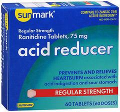 Sunmark Acid Reducer 75 mg Tablets Regular Strength - 60 TAB
