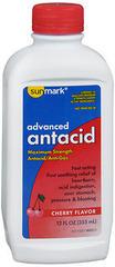 Sunmark Advanced Antacid Liquid Maximum Strength Cherry Flavor - 12 OUNCE