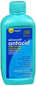 Sunmark Advanced Antacid Liquid Regular Strength Original Flavor - 12 OUNCE