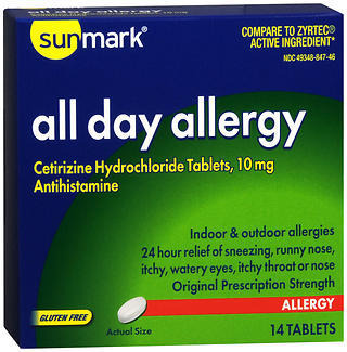 Sunmark All Day Allergy Tablets - 14 TAB