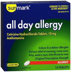 Sunmark All Day Allergy Tablets - 14 TAB