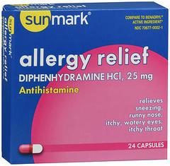 Sunmark Allergy Relief Capsules - 24 CAP