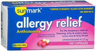 Sunmark Allergy Relief Capsules - 100 CAP