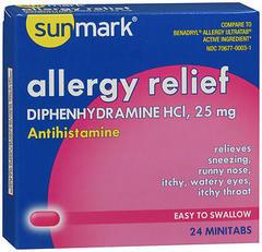 Sunmark Allergy Relief Minitabs - 24 TAB