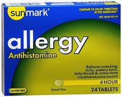 Sunmark Allergy Tablets 4 Hour - 24 TAB