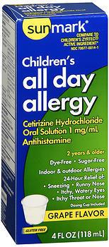 Sunmark Children's All Day Allergy Oral Solution Grape Flavor - 4 OUNCE