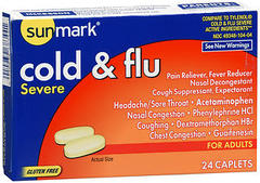 Sunmark Cold & Flu Severe Caplets - 24 TAB